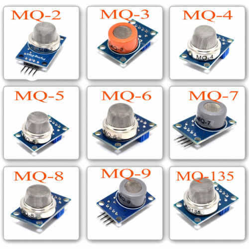 1set Gas Detection Alarm Sensor Module MQ-2 MQ-3 MQ4//5//6 MQ7 MQ-8 MQ-9 MQ-135