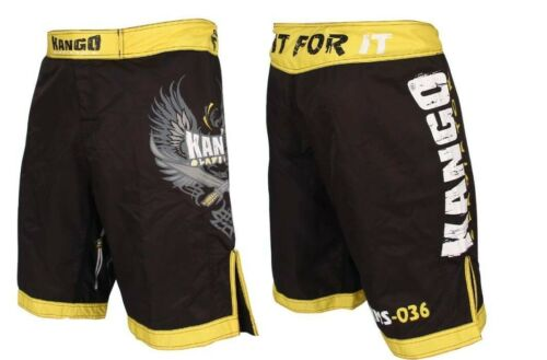 FREE Shipping within the UK! Mens MMA Shorts QUALITY MaterialYellow Black