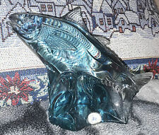 Kosta Reijmyre Paul Hoff Slominski glass figurine WWF animals fish Trachurus