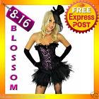 8132 Burlesque Purple Moulin Corset Tutu 8 10 12 14 16
