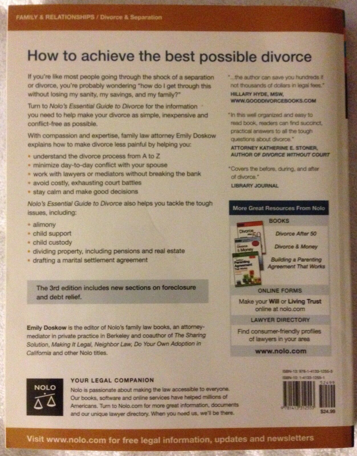 Nolos Essential Guide To Divorce By Emily Doskow 2010 Paperback