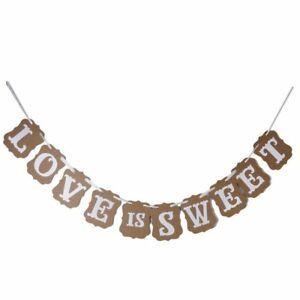 Love-Is-Sweet-Bunting-Garland-Banner-Wedding-Party-Decoration-Light-Brown-X7X5