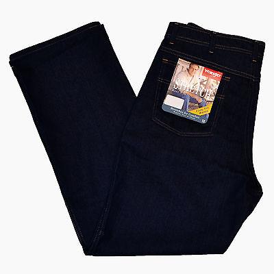 Wrangler Jeans Stretch Comfort Solutions Dark Indigo Mens 85498PS All Sizes