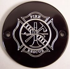 Fit's Harley Davidson Custom  points/cam-cover Fire fighter 2 hole