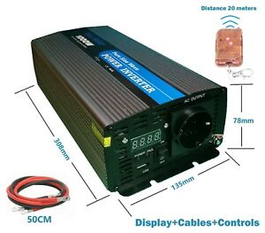 Inversor Onda Pura 1000W 2000W 12V TO 220V Convertidor With LCD remote control