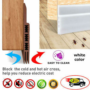 Details about Under Door Silicone Self-Adhesive Sweep Bugs Guard Seal Draft  Stopper 2