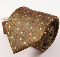 $135 Fumagalli 1891 Milano Green-orange Multi-dot Silk Tie Handmade In Italy on Sale