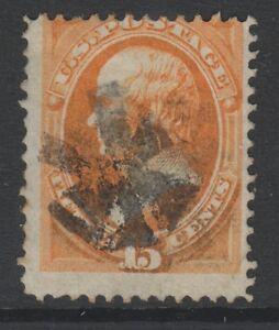 USA - 1870/1,15c Orange Briefmarke - Gebraucht - Sg 154,154a,165 Oder 165a (Kat