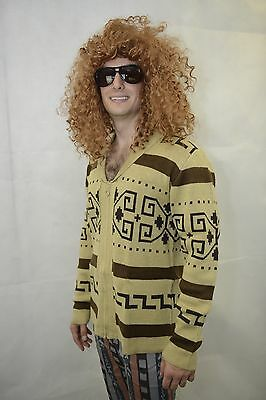 Big Lebowski Style The Dude Cowichan Sweater Cardigan Great Condition Costume