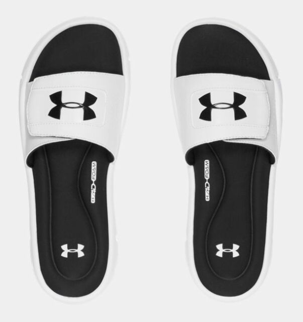 37783dbf3b1 Under Armour Size 9 US Men s 4d Foam Ignite V Blue Slides Sandals ...