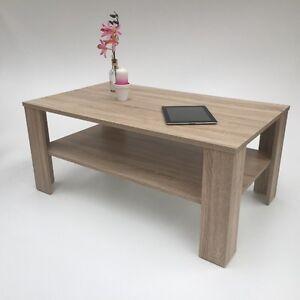 couchtisch bea sonoma eiche hell wohnzimmertisch made in germany ebay. Black Bedroom Furniture Sets. Home Design Ideas