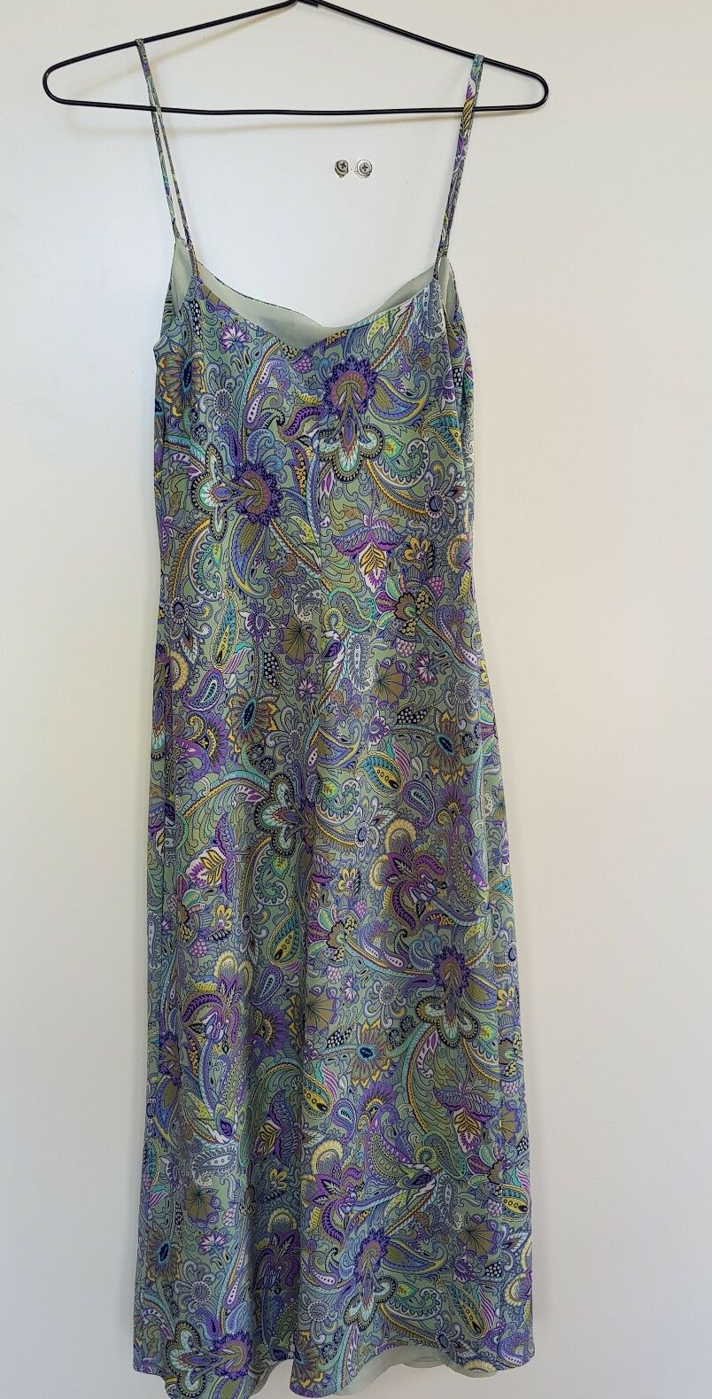 SHIEKE bluee Green Purple Paisley Print Dress Size 8