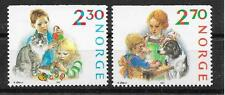 pa748 NORWEGEN/ Weihnachten 1987 MiNr 984/85 Do **