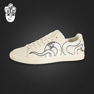 6cc77874468 Details about NEW Puma Clyde Snake Embroidery Shoes Rare High Detail  36811101 Men Size 13