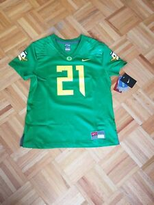 detailed look 5892b 6f328 Details about 100% Authentic Nike Team Oregon Ducks #21 Royce Freeman  Jersey Women M New