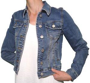 100% authentic 48cb9 b2513 Dettagli su Giacca Jeans Giubbino Elasticizzato Corto Slim Skin Manica  Lunga Ragazza Donna