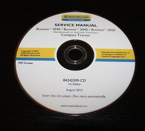 Details about NEW HOLLAND BOOMER 3040 3045 3050 COMPACT TRACTOR SERVICE  REPAIR MANUAL