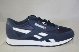 27e47c701db MEN S REEBOK CLASSIC NYLON 39749 TEAM NAVY PLATINUM COMFORT SNEAKERS ...