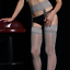 Indexbild 16 - Damen Geölt Glänzend Spitze Strapse Strumpfhose Durchsichtig Hoch Strümpfe