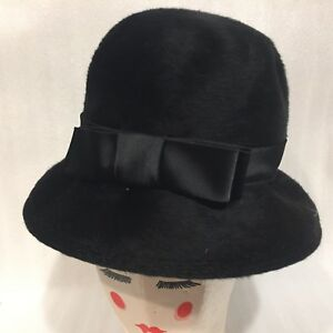 Women s Cloche Bucket Hat 1940 s Damozel New York Musketeer Black ... 4209224d18