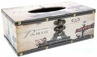 Tissue Box Cover - Rectangular Tissue Box - Paris Design on sale