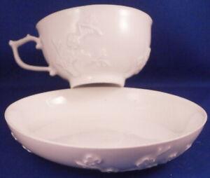 Antique 18thC 1740 Meissen Porcelain Prunus Blossom Cup & Saucer Porzellan Tasse