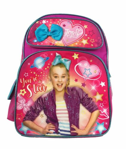 """Jojo Siwa Large 16/"""" inches School Backpack New Licensed Product Pink Color"""
