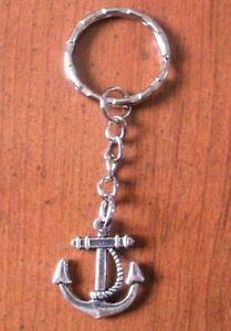 ANC01pc porte clés argenté ancre