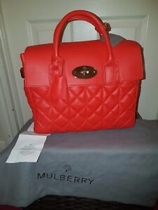 Image is loading Mulberry-Cara-Delevingne-Quilted-Leather-Handbag-3-in- 2337a1a990855