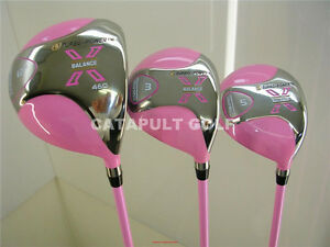 New Ladies Petite Pink Driver Lady Womens Golf Wood Set Ebay