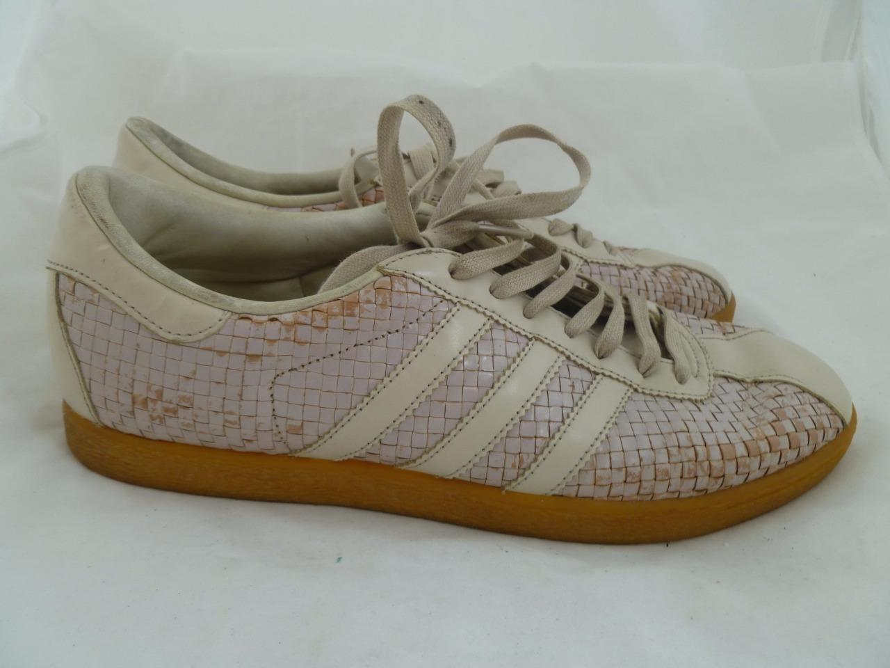 ADIDAS ORIGINALS TOBACCO WEAVE USED MEN LIGHT PINK SNEAKERS 2002