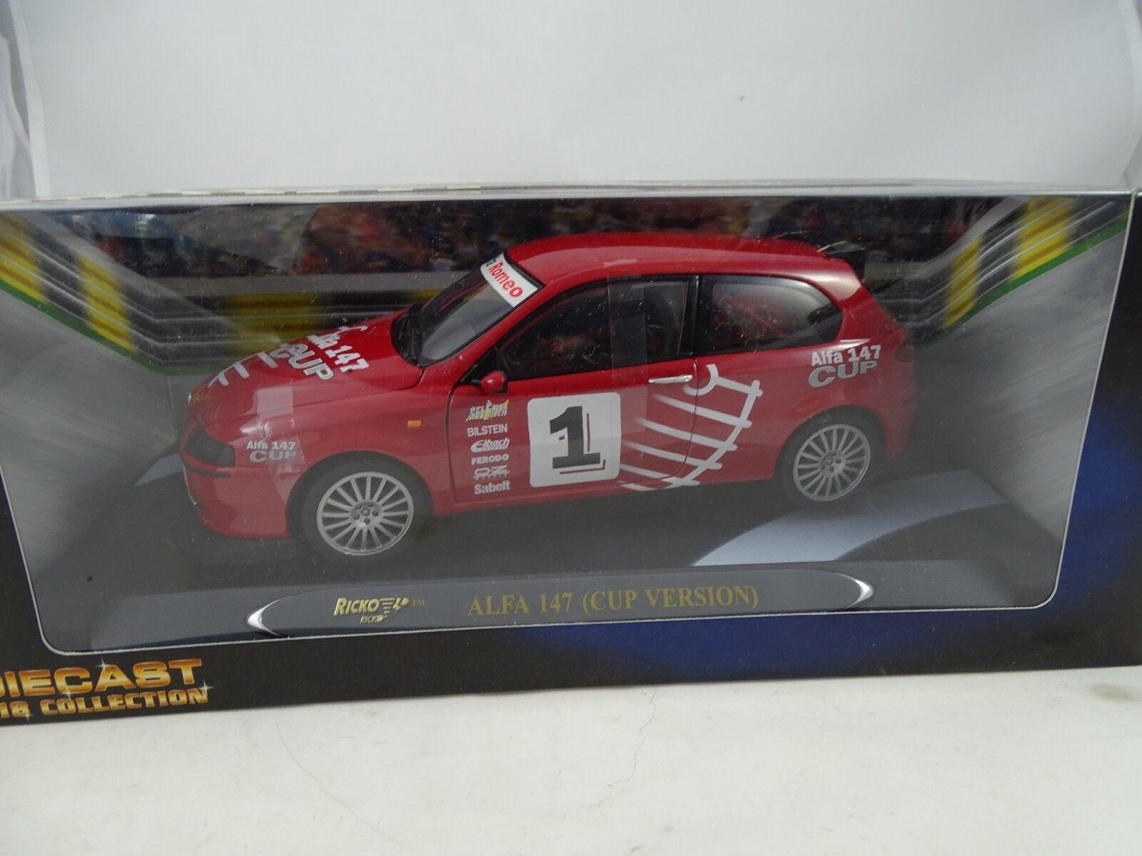 1 18 Ricko alfa 147 copa versión racing rosso rareza §