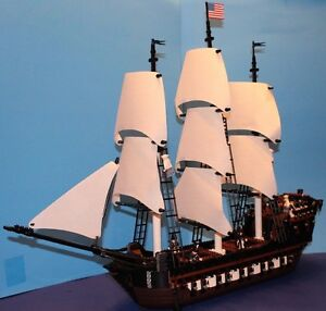 LEGO® brick MOC 10210 USS CONSTITUTION Custom Set w/8 Cannons 10