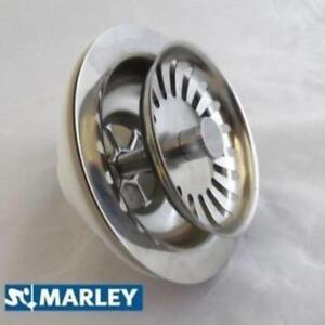 90mm-Stainless-Steel-Basket-Strainer-Waste-Kitchen-Sink-40mm-1-5-034-outlet-Marley