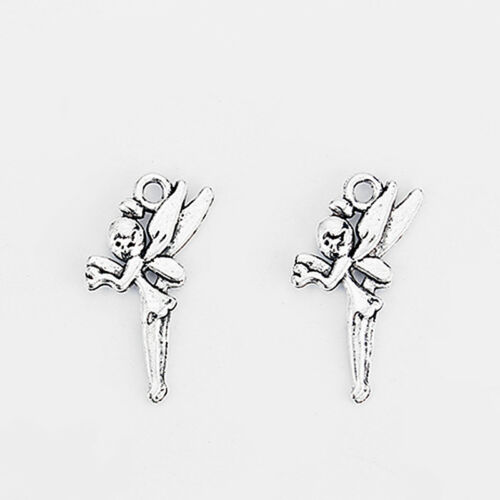 20Pcs Antique Silver Girl Angel Fairy Charms Pendant Jewelry Findings 24*12mm
