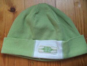 Baby Toddler Lime Green Cotton Beanie Chapeau Bonnet Âge 1-3 Ans-afficher Le Titre D'origine