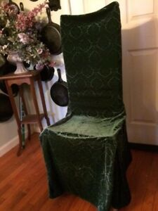 Incredible Details About Waverly Classics Hunter Green Velvet Armless Dining Chair Covers 4 Fancy Alphanode Cool Chair Designs And Ideas Alphanodeonline