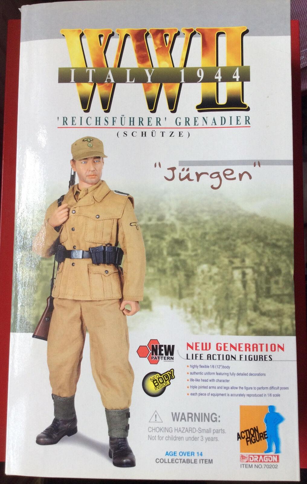 Dragon 1/6 Figure WW2 Jurgen German  Grenadier  German 1944 Boxed / 2002 121314