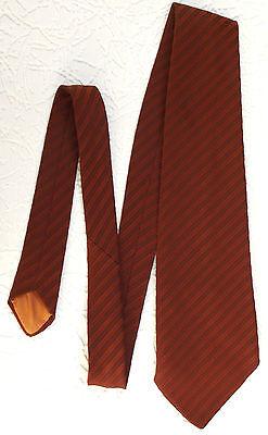 Vintage 1960s kipper tie STRIPE orange brown polyester House of Fraser Allander