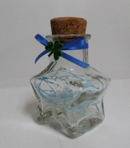 "Origami Lucky Star 2.75/"" Love Star Shape Glass Bottle"