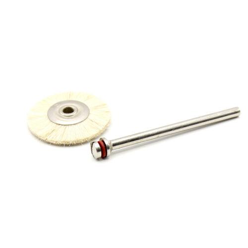 6x Ziegenhaarbürsten Borsten Bürste 25mm für Dremel Proxxon Schleifer Zubehör