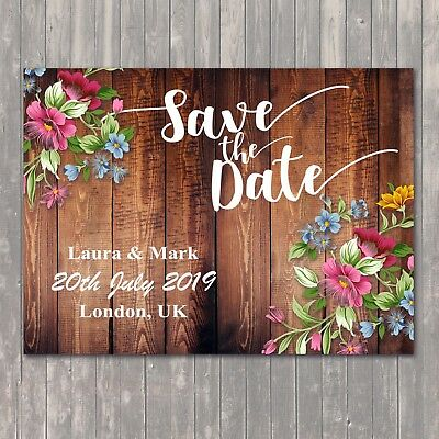 Bride//Flowers Save The Date Magnet