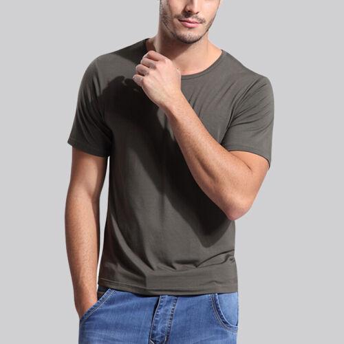 Men/'s Soft Bamboo Fiber Short Sleeve Tee Shirt V /& Crew Neck Tops US Size S-3XL