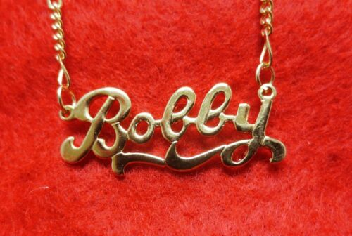"""14KT Gold Ep Personalisierter Name /& 16 /"""" Halskette mit 72 für Schnelles"""
