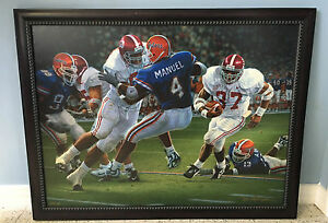 """University of Alabama """"Rebirth in the Swamp"""" Framed Canvas Print by Daniel Moore"""