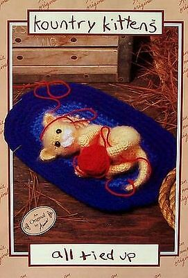 Crochet  Kountry Kittens All Tied Up  Vintage Pattern  Annie's Attic