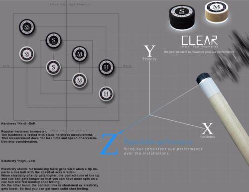 Genuine M KAMUI BLACK CLEAR Pool Cue Tip 1 MEDIUM - w// serial number