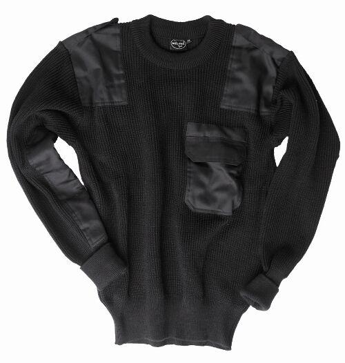 Ejercito Aleman Estilo Saltador Negro - Comando Pull-Over Suéter Militar Lana