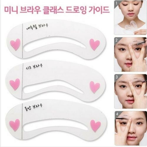Template Eyebrow Drawing Card Brow Make-Up Stencil Grooming Shaping Assistant