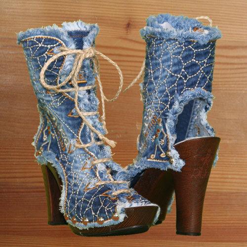 Grandes zapatos con descuento Jeans Stiefel / Designer Schuhe / Ibiza Style /original  DiJea / Dilara / Hippie